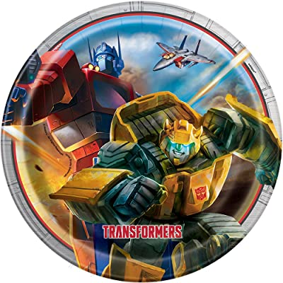 Transformers Paper Party Plates, 8ct: Toys & Games