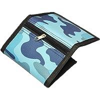 RFID smal kamouflageplånbok för barn/trippelvikbara plånböcker för män/mini trippelvikt myntväska med dragkedja för barn