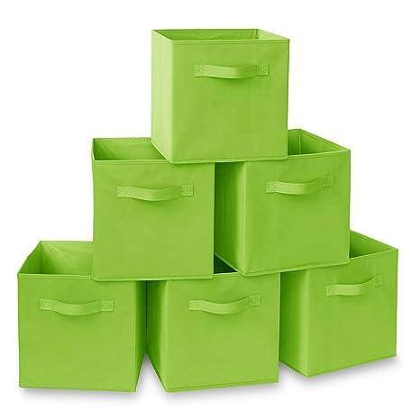 Amazon.com: Casafield - Juego de 6 cubos de tela plegables ...