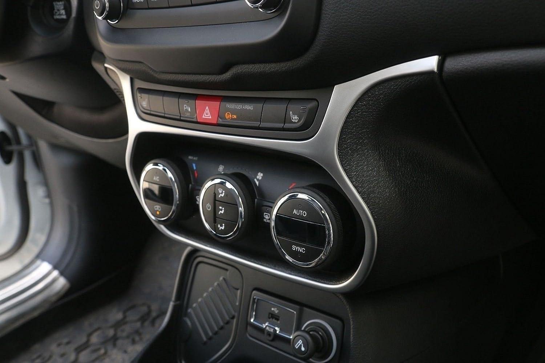 Auto Aria Condizionata Interruttore Controllo Pulsante Parti Decorative Big Argento Opaco
