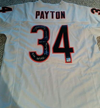 953ff7d39 Image Unavailable. Image not available for. Color  Autographed Walter  Payton Jersey ...