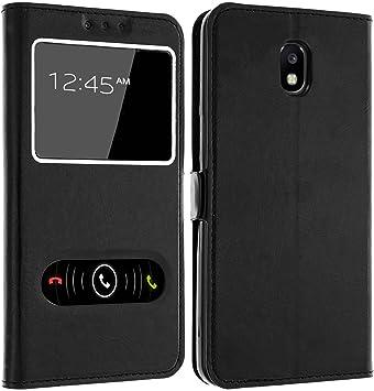 GEMTOO® Funda con Ventanas para Samsung Galaxy J3 2017, Negro: Amazon.es: Electrónica