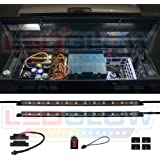 LEDGlow 2pc Truck Tool Box LED Lights - Includes Magnetic Power Switch for Automatic On/Off