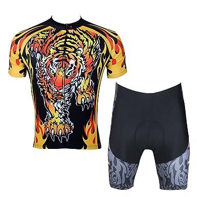 ILPALADINO Men s Cycling Jersey Clothing Set Short Sleeve Tigers Animals  (XXS b024200a1