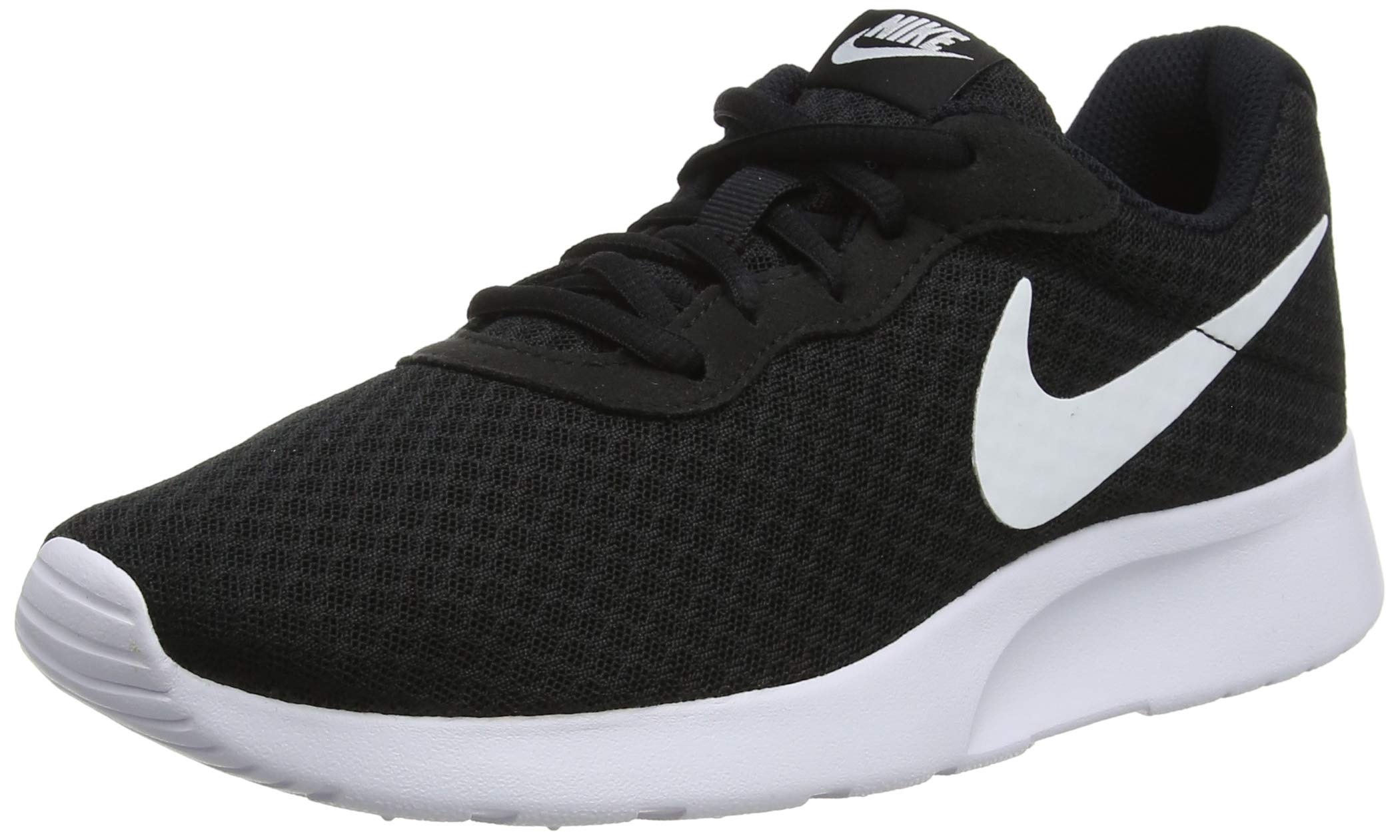 Nike Womens Tanjun Running Sneaker Black/White 8 by Nike