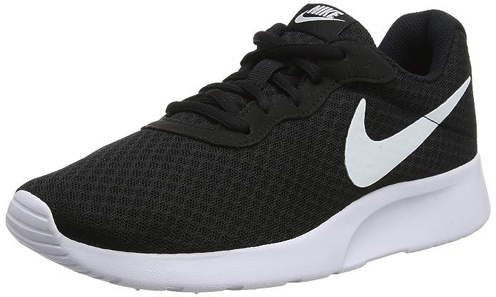 Nike Tanjun Damen Sneaker Laufschuhe Schwarz mit weißem Streifen