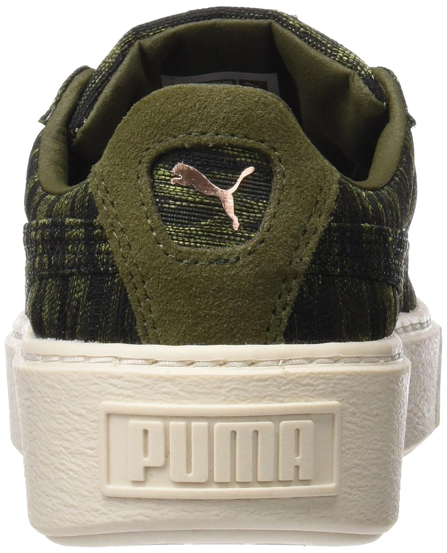 Puma EU Damen Basket Platform Vr Sneaker, 40.5 EU Puma Grün (Olive Night-olive Night) 3a96f8