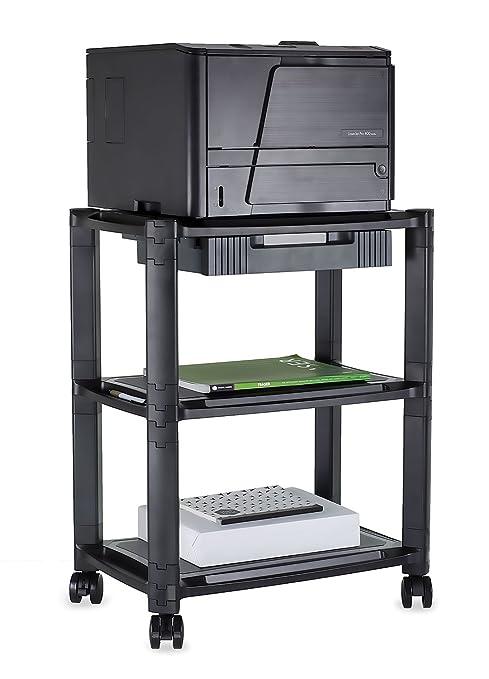 Amazon.com: mount-it. Printer Soporte con ruedas y cajón ...
