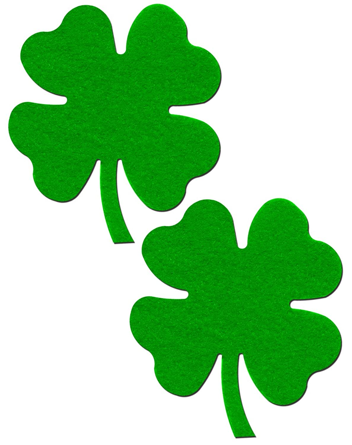 amazon com shamrock lucky green 4 leaf clover pasties by
