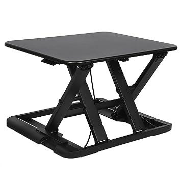 SONGMICS Mesa para Computadora Ordenador portátil Superficie de Mesa Mesa de pie Altura Ajustable para Casa Oficina Ajustar Entre 5,8-43 cm Negro LSD04B: ...