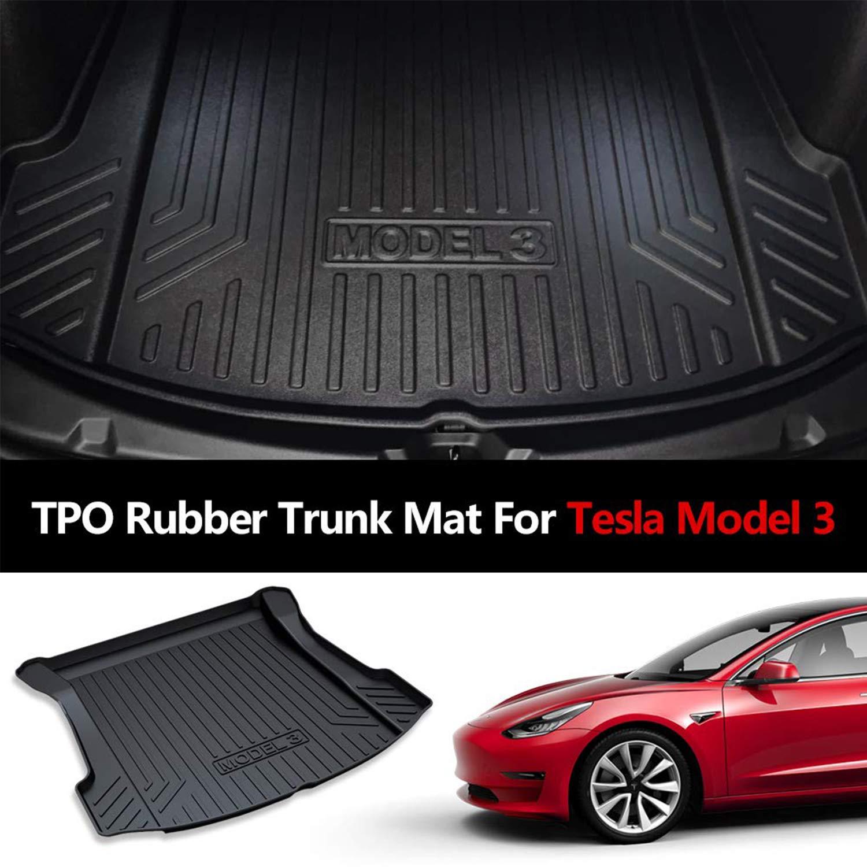 Topfit Soft Rubber Cargo Liner All Weather Tapis de Coffre Complet pour Tesla Model 3