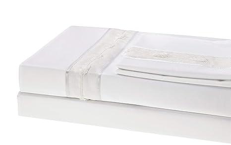 Amazon.com: 100% algodón egipcio hoja de cama Set, 750 hilos ...