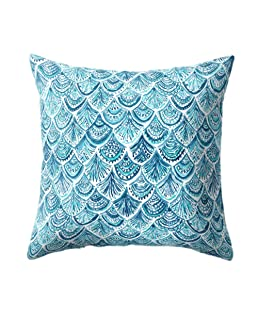 wintefei Shell Fish Scales Throw Pillow Case Home Decor Soft Cushion Cover 18inch? -4#