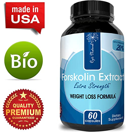 Forskolin Weight Loss Supplement for Men & Women - Pure Coleus Forskohlii Extract Diet Pills Fat Burner Capsules Natural Appetite Suppressant Fast Acting Metabolism Booster Extra Strength