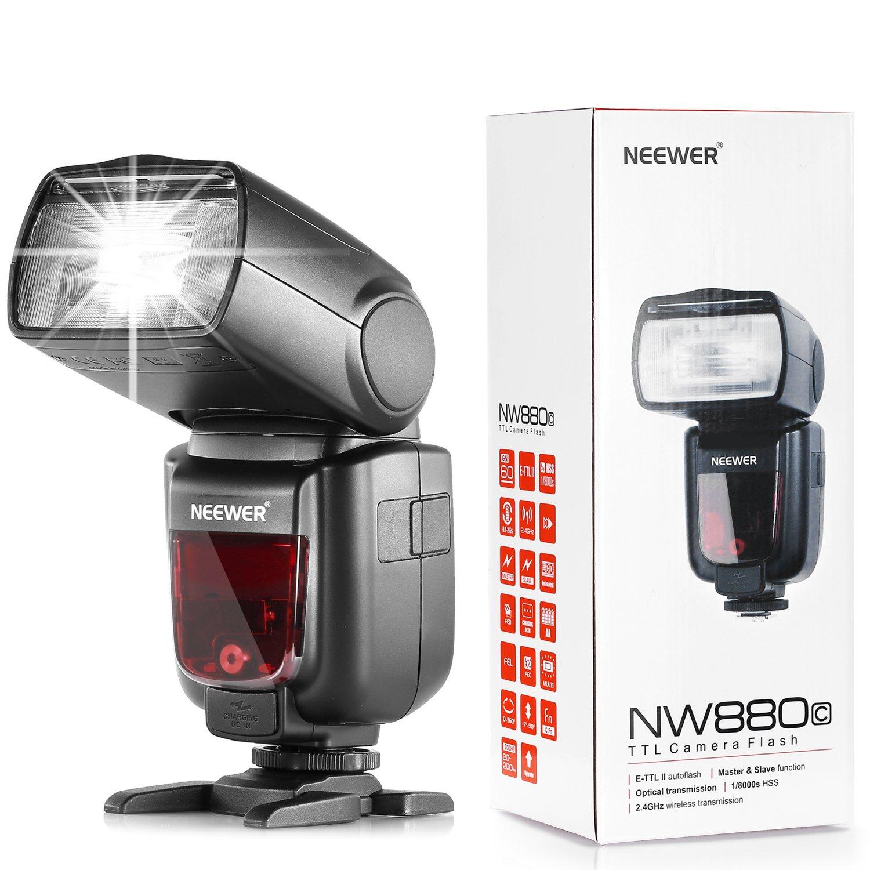 Neewer® 2,4 G inalámbrico HSS nw880 C E-TTL II Maestro/Esclavo ...