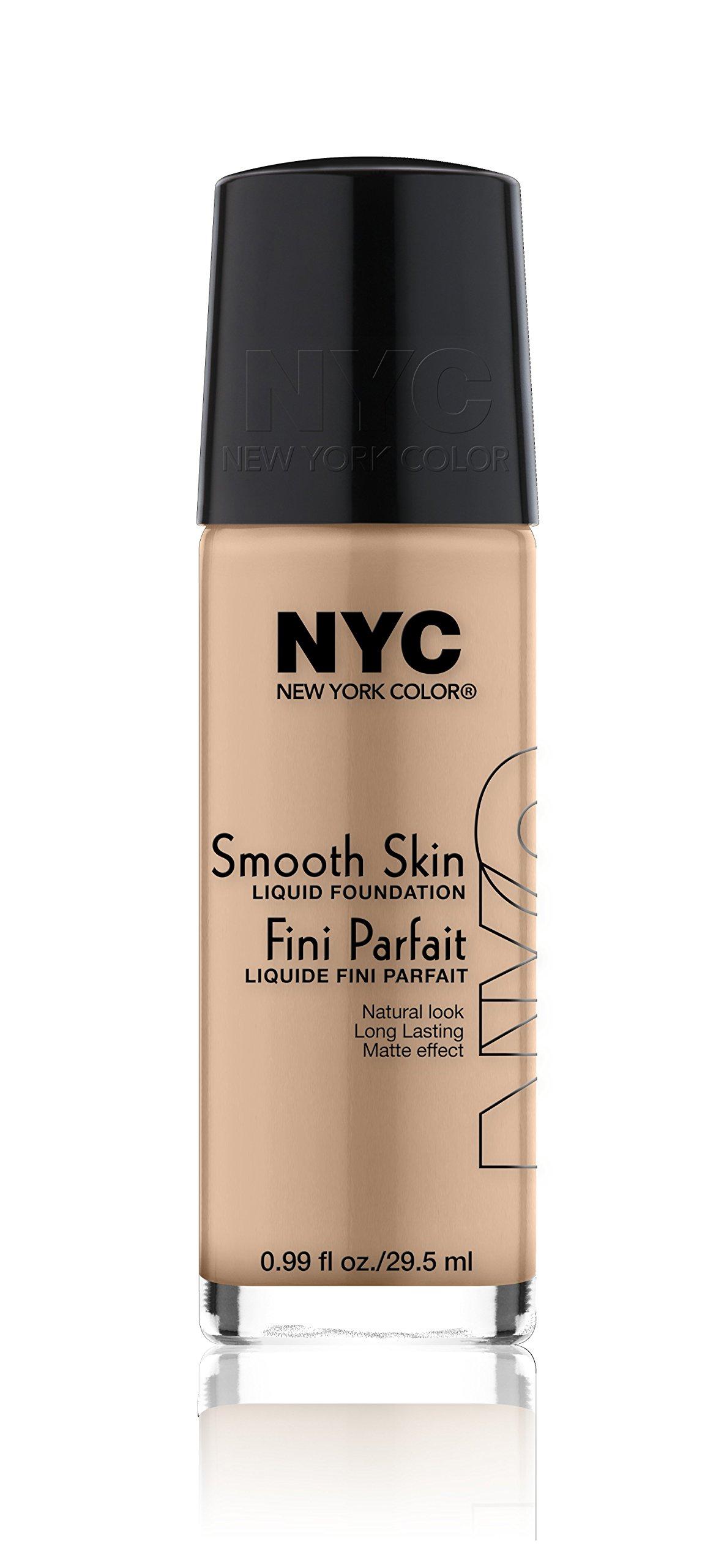 N.Y.C. New York Color Smooth Skin Foundation, Warm Beige, 1 Fluid Ounce