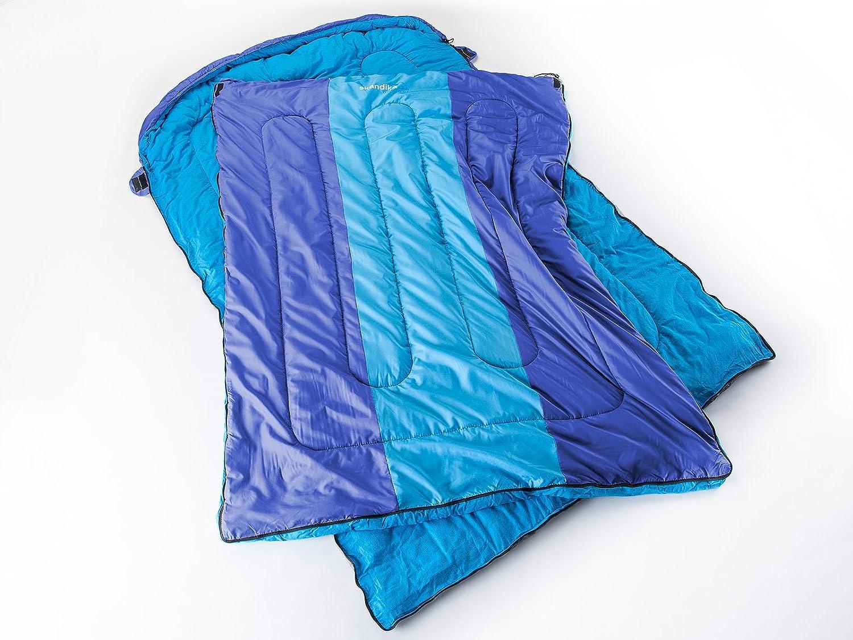 Skandika Orkney -16121 -Saco de dormir doble -2 personas -235 x150 cm -azul/azul clarito: Amazon.es: Deportes y aire libre
