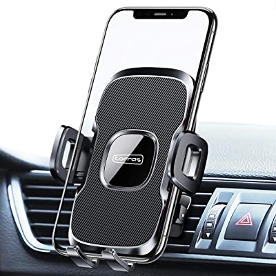 TORRAS Cell Phone Holder for Car Air Vent [2020 Enhanced Clip], Easy-Firm Car Phone Mount Holder Vent Clamp Compatible for iPhone 11 Pro Max Xs XR X 8 Plus SE, Samsung Galaxy S20+Ultra/Note 10 Plus S9