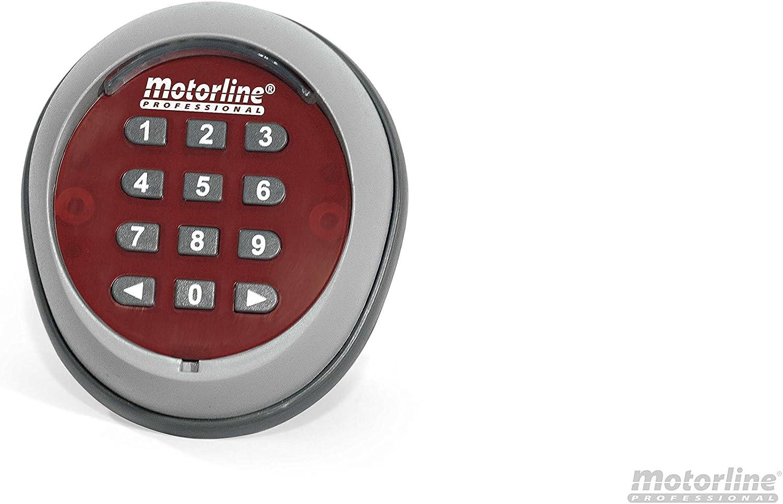 Teclado numerico inalambrico Motorline TEC1 para accionamiento de automatismos, Motores y centrales de Garaje, Puertas peatonales, Control de accesos