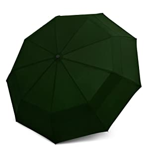 """Mens Auto Open/&Close Stromproof Compact Folding Umbrella Black 43/"""""""
