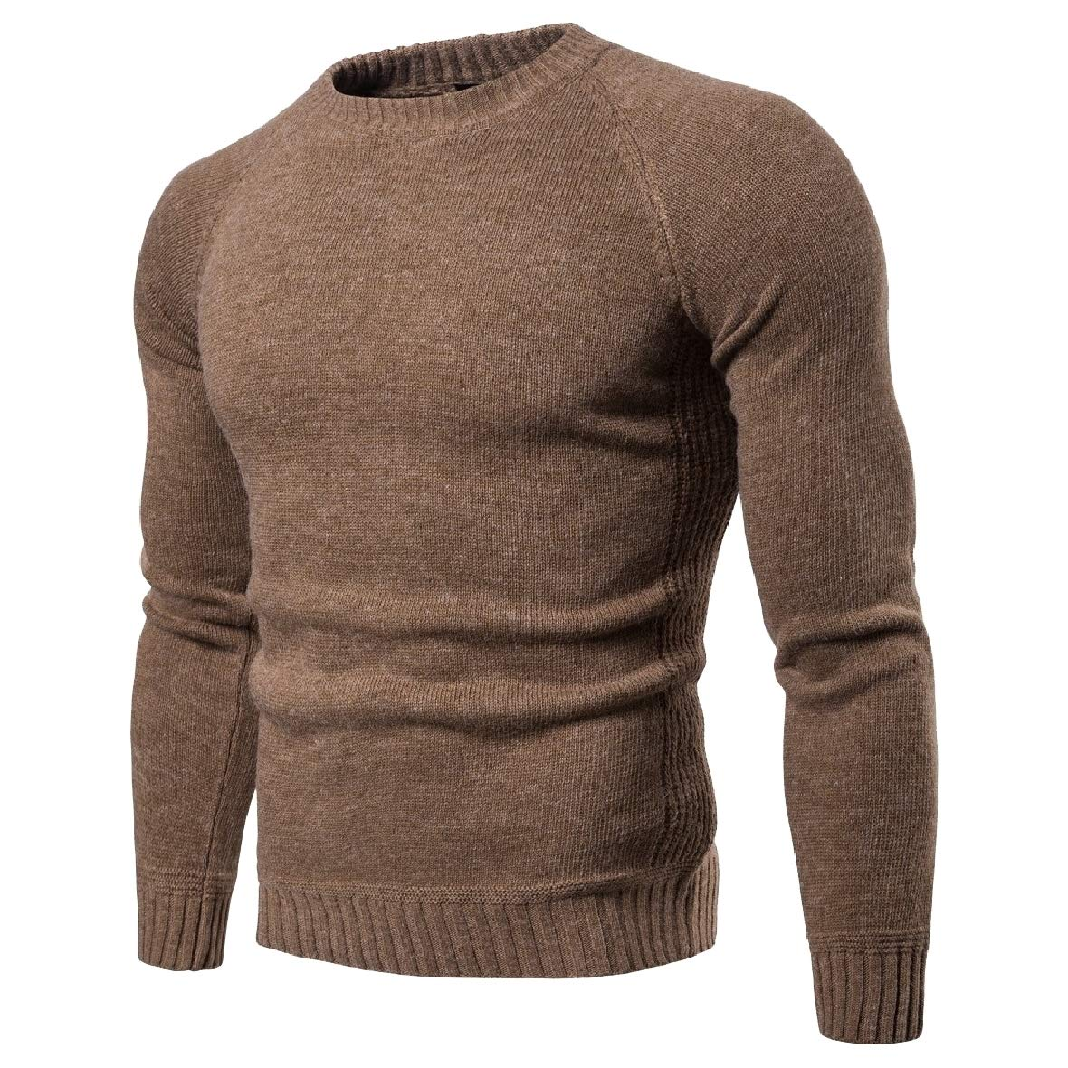 Comaba Men Jersey Printed Long-Sleeve Pullover Knitting Round Collar Sweaters