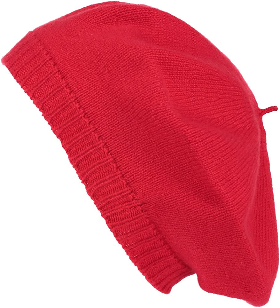 Pure Cashmere Beret - Made...