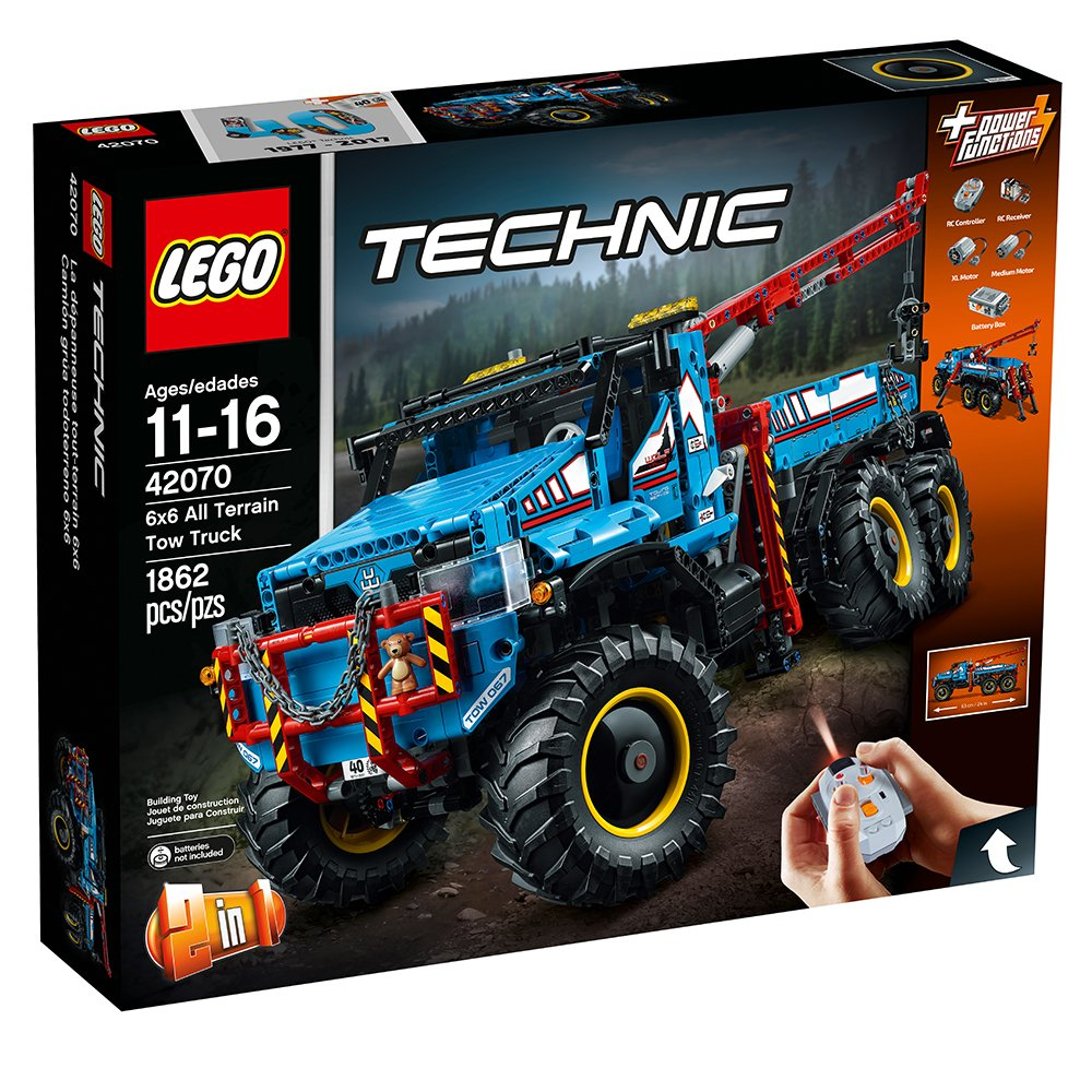$229.99 (was $369.99) LEGO Technic 6×6 All Terrain Tow Truck Building Kit, 1862 Piece