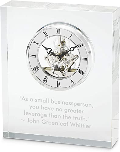Things Remembered Personalized Glass Skeleton Clock