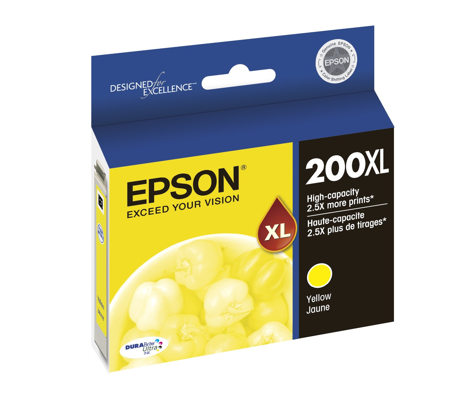 Amazon.com: Epson T200XL420 DURABrite Ultra Yellow High Capacity ...
