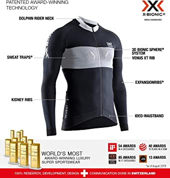 X-Bionic Invent 4.0 Cycling Zip Long Sleeves Men, Bicicleta De ...