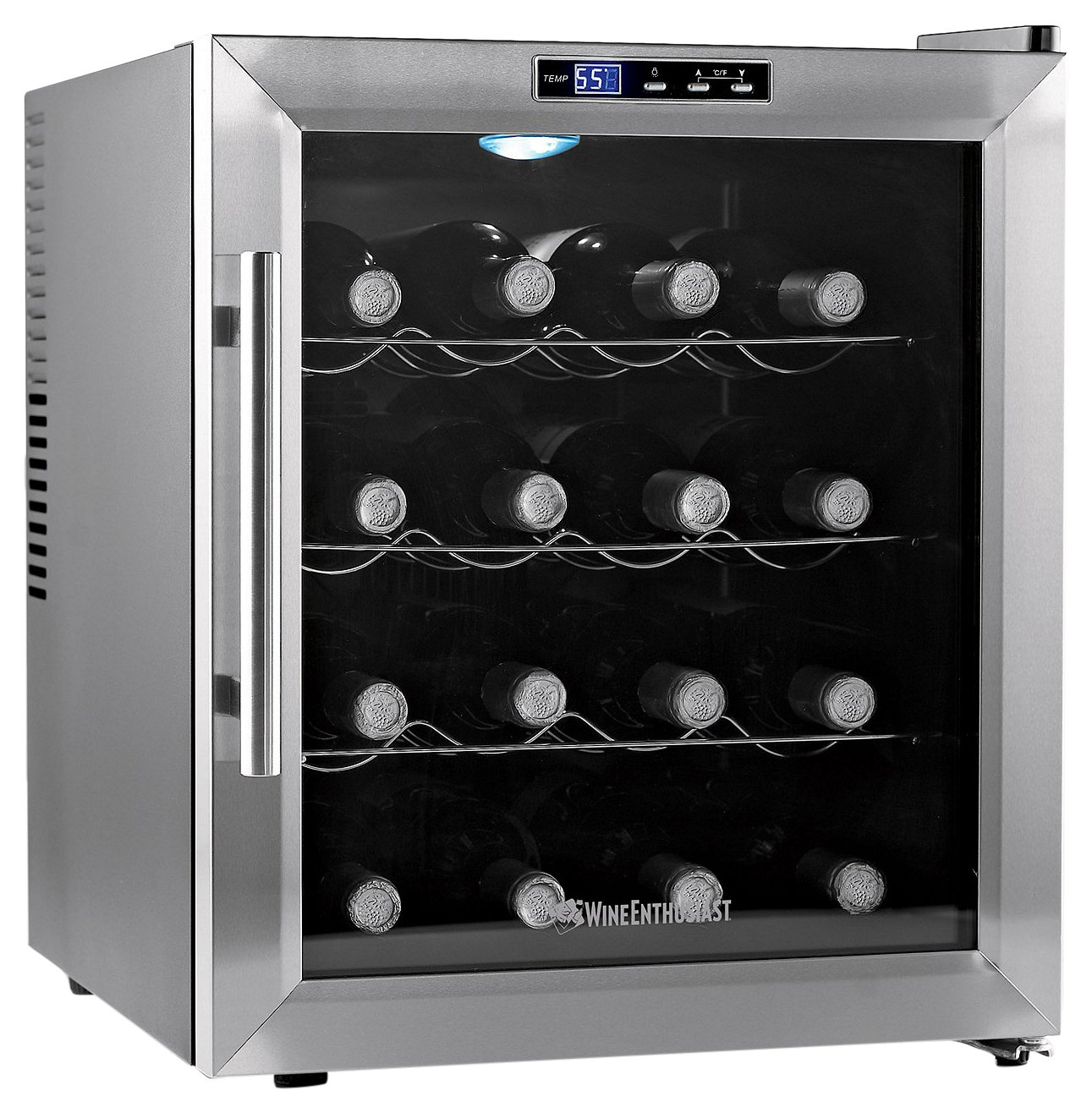 Wine Enthusiast 272 02 17 Silent 16 Bottle Touchscreen Wine Cooler, Stainless Steel Wine Enthusiast (Kitchen)