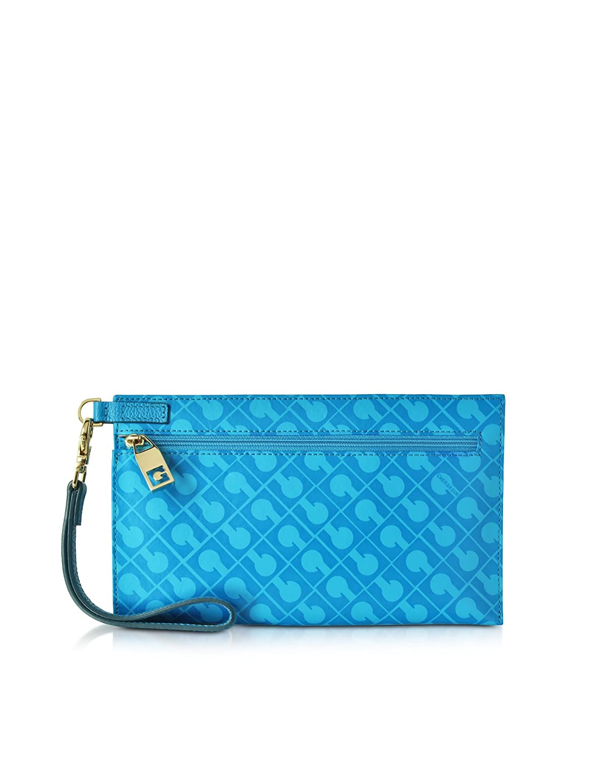 GHERARDINI WOMEN'S GH2576TP2243 LIGHT BLUE FABRIC CLUTCH