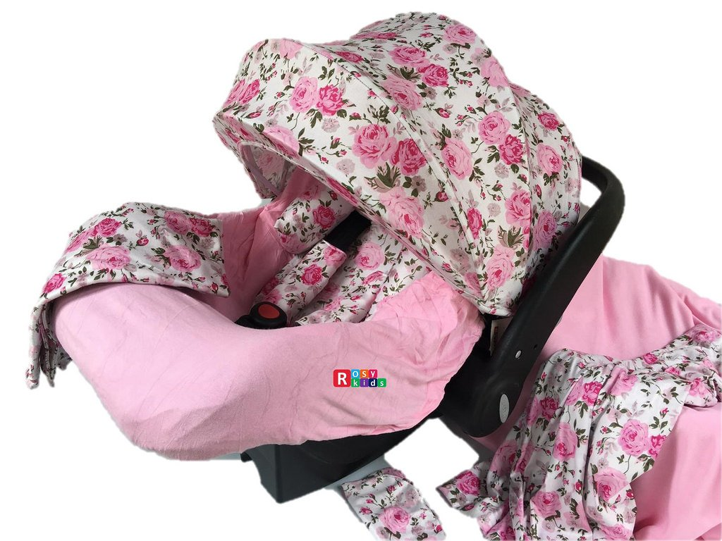 Amazon Com 9pc Ultimate Set Of Infant Car Seat Cover Canopy