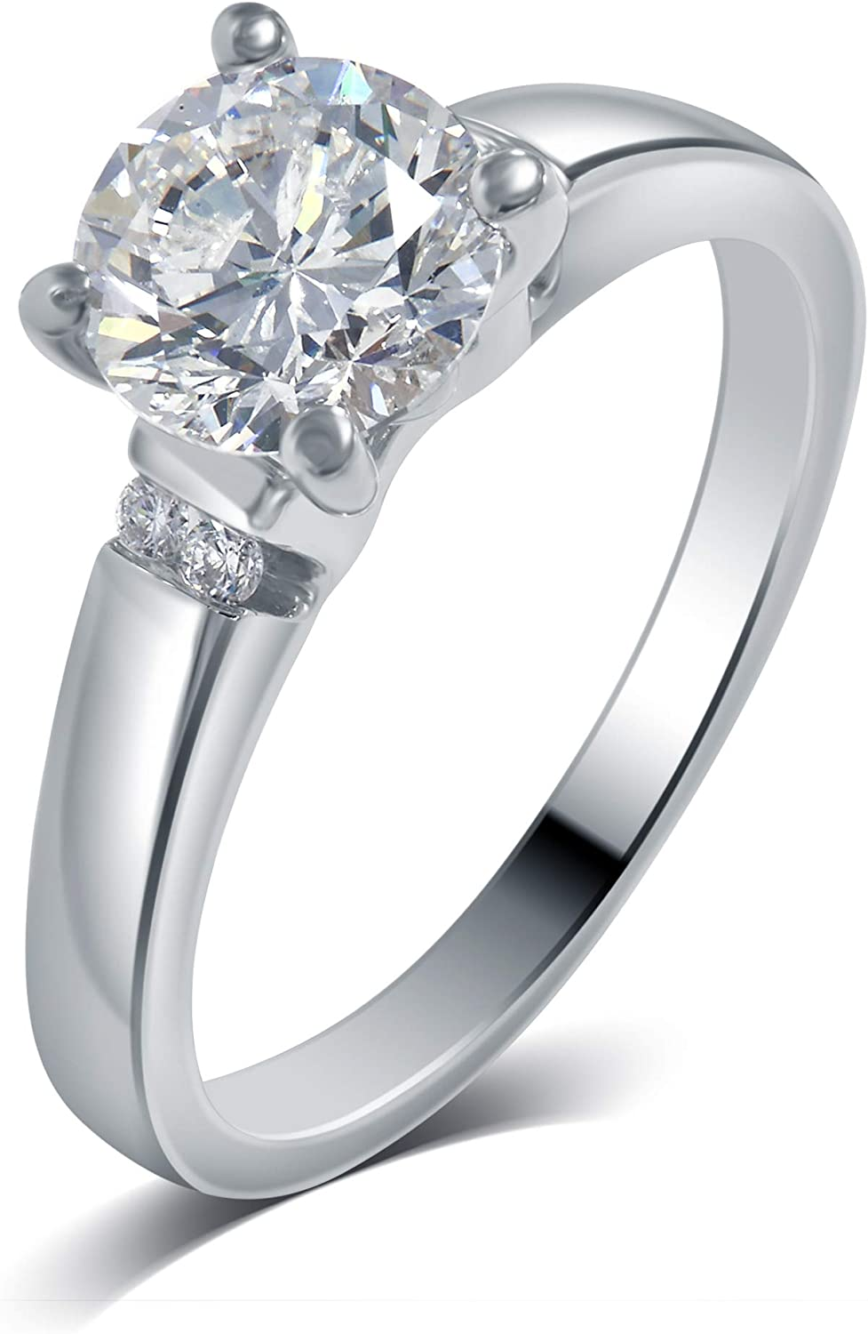 La4ve Diamonds 1.06 Carat Diamond Solitaire Engagement Ring in 14K White Gold (Color - H-I) (Clarity - SI1)