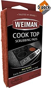 Weiman Cook Top Scrubbing Pads3 Reusable Pads (Pack of 3)