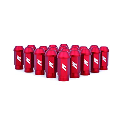 Mishimoto Aluminum Locking Lug Nuts, M12 x 1.25, Red: Automotive