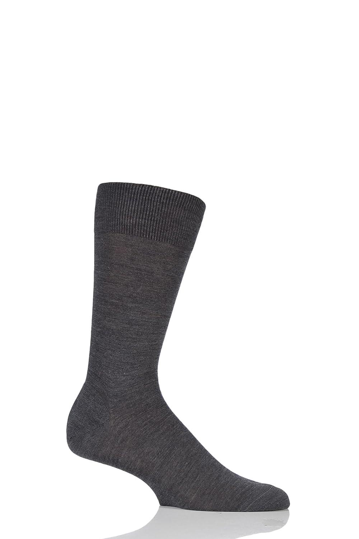 Mens 1 Pair Pantherella Camden Merino Wool Plain Socks
