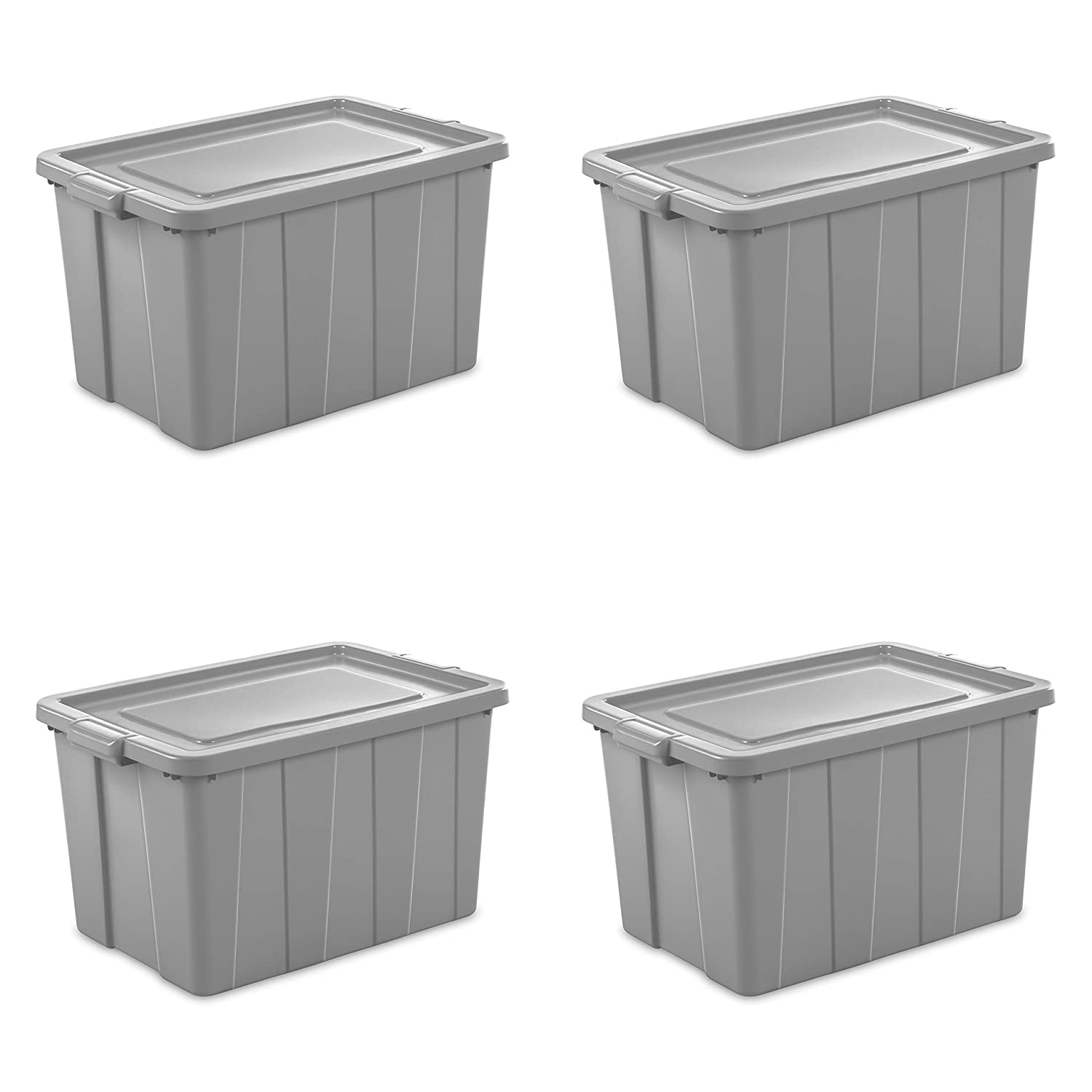 Sterilite 16796A04 Storage Tote, 30 gallon, Cement Lid and Base