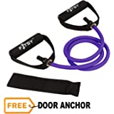 FITSY® Toning Tube with Additional Door Anchor – Purple (50–55 lbs)