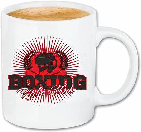 taza para café LUCHA club de boxeo del club del boxeo Guantes de boxeo CAJA DE