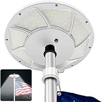 Solar Flag Pole Light 176 LED, 880 Lumens Brightest Solar Powered Flagpole Lights for Most 15 to 25 Ft Flag Poles, 100…