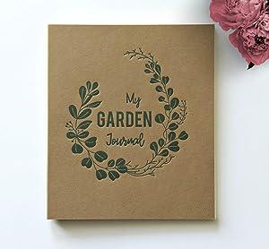 "My Garden Journal Rustic Kraft Brown Gardener's Journal Spiral Bound | 8.5"" x 7.25"" 65 Sheets (130 pgs) | Garden Journal and Planner Notebook | Garden Log Book | Gardening Journal Notebook (BR)"