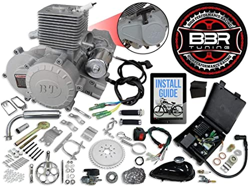 66/80cc BBR Tuning Bullet Train Electric Start Engine Kit – Silver