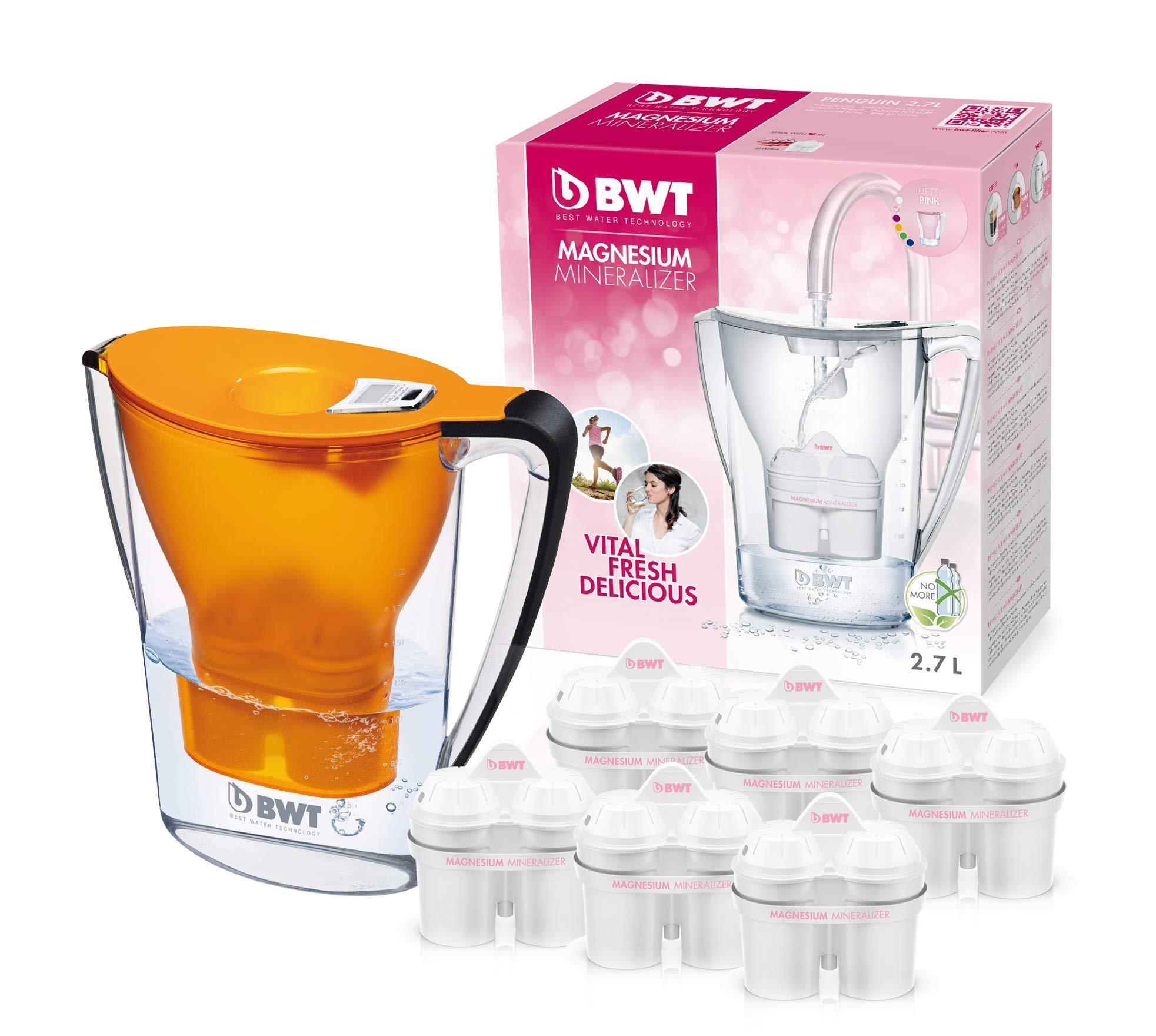 BWT Penguin Electrónica – Jarra filtradora de agua con magnesio + Pack 6 filtros jarra de