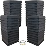 "48 Pack- Acoustic Panels Studio Soundproofing Foam Wedges 2"" X 12"" X 12"""