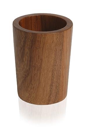 Stiftebox Bad-Zubeh/ör aus Bambus rund axentia Zahnb/ürstenhalter Bonja Stiftehalter Badausstattung dekorativer B/ürstenhalter