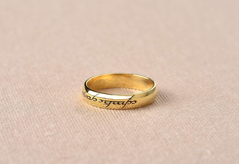 Amazon com: Elvish Silver Ring Band, Elven Calligraphy Ring