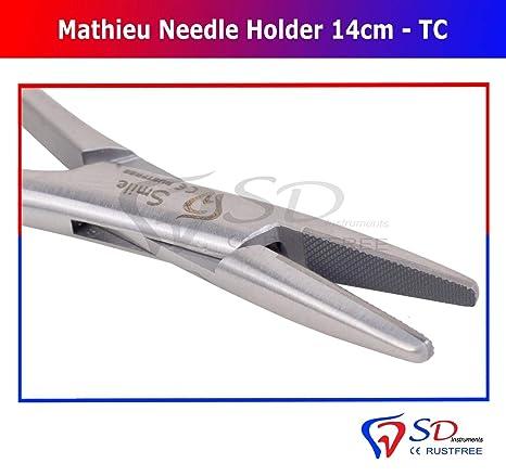 Mathieu - Alicates de fijación para agujas de laboratorio (14 cm): Amazon.es: Industria, empresas y ciencia