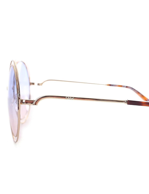 85ef6b9b6884 Amazon.com  Chloe CE114SD 706 Gold Grad Azure Carlina Round Sunglasses Lens  Category 1 Si  Chloe  Clothing