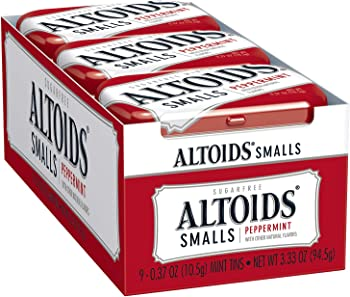 9-Pack Altoids Smalls Peppermint Breath Mints, 0.37-Ounce Tin